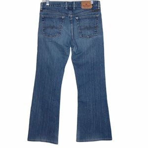 Lucky Brand by Gene Montesano Mid Rise Flare Jeans